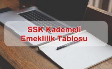 SSK Kademeli Emeklilik 2018
