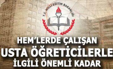 MEB'deki usta öğreticilere borçlanma hakkı geldi