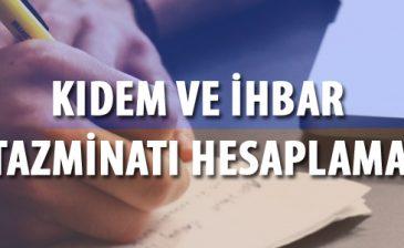 2019 Kıdem Tazminatı Hesaplama